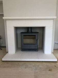 Surrey fireplace installed into a new chimney breast