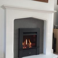 White and Grey Fireplace surround in Hampshire