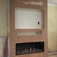 Halfway through a new fireplace installation