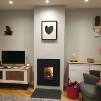 Chimney Breast in a Modern Home with a Wood Burning Stove