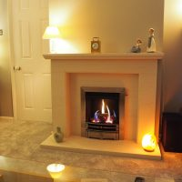 Olympus Fireplace in a Living room setting