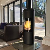 Hwam Fireplace with a Flue System