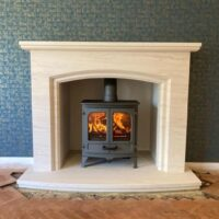 Eversley in natural Portuguese fireplace